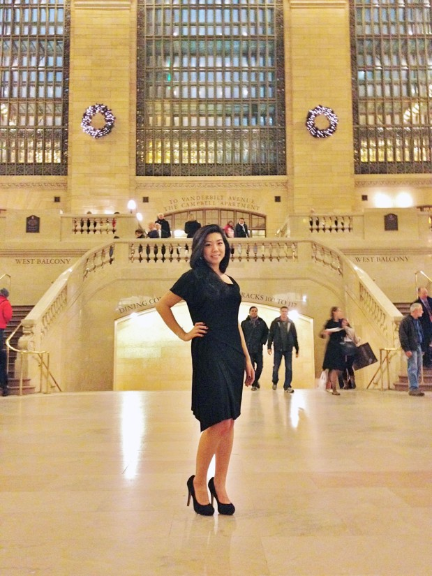 spontaneous photoshoot in grand central station